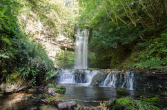 A spectacular waterfall, Ireland. A waterfall in north west ireland Stock Photos