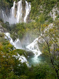 Spectacular waterfalls of the Plitvice lakes. Stock Photography