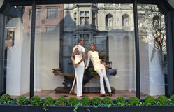 Spectacular window display at Ralph Lauren in NYC Royalty Free Stock Photography