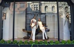 Spectacular window display at Ralph Lauren in NYC. New York City - April 21, 2015: Spectacular window display at Ralph Lauren in NYC on April 21, 2015 Royalty Free Stock Photography