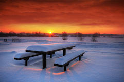 Spectaculat winter sunset Royalty Free Stock Photography