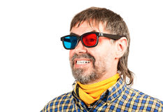 Spectateur 3d heureux Photos libres de droits