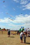 Spectateurs au festival de cerf-volant, Portsmouth, Ht, Angleterre Image libre de droits