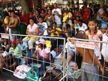 Spectateurs de carnaval de troubadour de Capetown Photo libre de droits