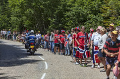 Spectateurs de Tour de France de le Images libres de droits