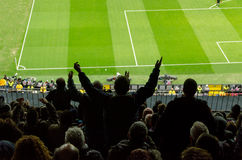 Spectateurs du football Photos libres de droits