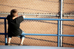Spectator of baseball Stock Image