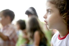 Spectator children looking at the show royalty free stock photography