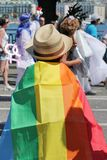 Spectator at the Gaypride Stock Photos