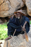 Spectator at mask dance in Dogon Village Mali Stock Images