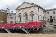 Spectator platform for Horse Guards parade in London. UK Stock Photos