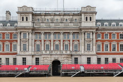 Spectator platform for Horse Guards parade in London. UK Stock Photo