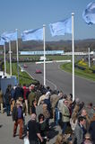 Spectator's watch the race action at Goodwood. Stock Image