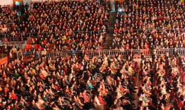 Spectator Seats-theFamous and classicconcert. The evening of November 8, 2014, known by Karim, Dong Wenhua, Cheng Zhi, Yan Weiwen, Cai Guoqing, snow white, Wang Stock Photography