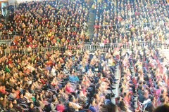 Spectator Seats-theFamous and classicconcert Royalty Free Stock Photo