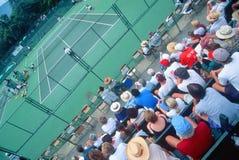 Spectators at the Annual Ojai Amateur Tennis Tournament, Ojai, California Royalty Free Stock Photos