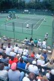 Spectators at the Annual Ojai Amateur Tennis Tournament, Ojai, California Royalty Free Stock Photo