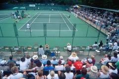 Spectators at the Annual Ojai Amateur Tennis Tournament, Ojai, California Stock Image