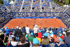 Spectators at the ATP Barcelona Royalty Free Stock Image