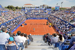 Spectators at the ATP Barcelona Open Banc Sabadell Stock Image