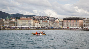 Spectators during the Barcolana 2012 Stock Image