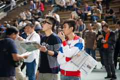 Spectators bet on the winner Royalty Free Stock Photo