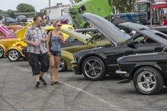 Spectators at car show Royalty Free Stock Photos