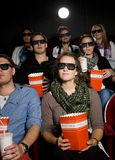 Spectators at cinema Royalty Free Stock Images