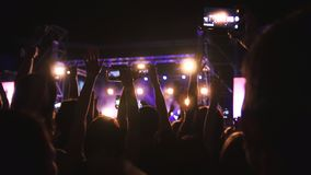 Spectators at the rock concert royalty free stock image