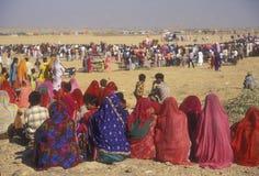 Spectators in the Desert Royalty Free Stock Photo