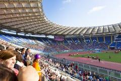 Stadio Olimpico at Diamond League. Spectators at Diamond League on Stadio Olimpico  Olympic stadium  in Rome, Italy in 2016 Stock Photography