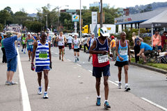 Spectators Encouraging Participants Running in 2014 Comrades Mar Royalty Free Stock Photography