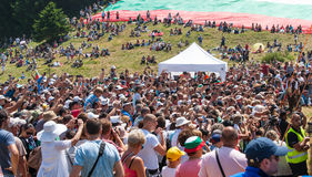 Spectators at the Festival of Rozhen in Bulgaria Royalty Free Stock Photos