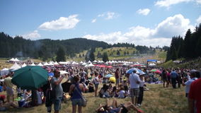 Spectators at the Festival of Rozhen in Bulgaria stock footage