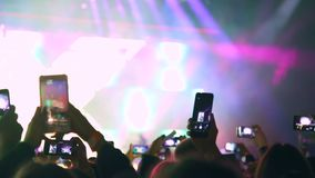Spectators filmed the artist on the phone during a performance on stage.