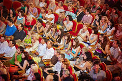 Spectators of final competition Beauty of Russian Railways 2012 Stock Image