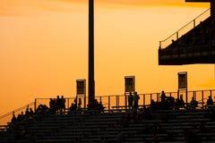 Spectators on grandstand Stock Image