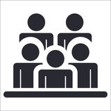 Spectators icon Stock Photo