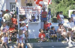 Spectators of July 4th Parade, Pacific Palisades, California Stock Images