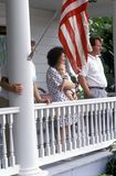 Spectators of July 4th Parade, Rock Hall, Maryland Royalty Free Stock Photography
