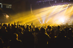 Spectators in the large concert hall. Royalty Free Stock Photography