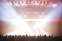 Spectators in the large concert hall. Stock Image