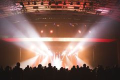 Spectators in the large concert hall. Stock Photography