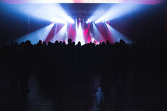 Spectators in the large concert hall. Royalty Free Stock Images