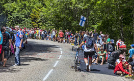Spectators of Le Tour de France Stock Photography