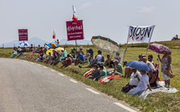 Spectators of Le Tour de France Royalty Free Stock Photo