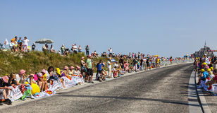 Spectators of Le Tour de France Royalty Free Stock Photography
