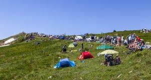 Spectators of Le Tour de France Royalty Free Stock Image