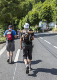 Spectators of Le Tour de France Walking to the Col du Tourmalet Royalty Free Stock Photo