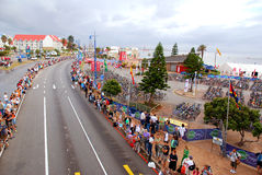 Spectators lining road royalty free stock images